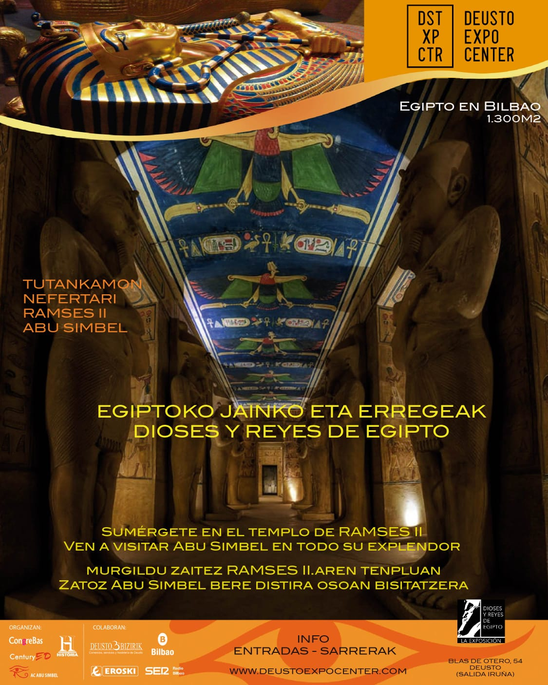 Calendario Deusto.Bizkaia Deusto Expo Center Dioses Y Reyes De Egipto La